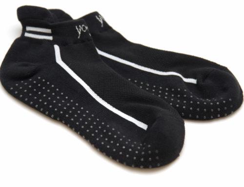 Yoga Socks (S/M = 36-40; L/XL = 41-45, Baumwolle, schwarz; 11,90€)